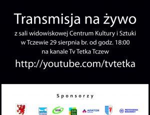 Plansza z informacją o transmisji na żywo