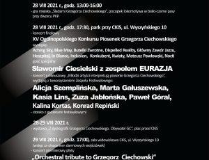 Afisz In Memoriam XX Festiwalu Grzegorza Ciechowskiego